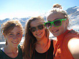 We take selfies on camping trips!