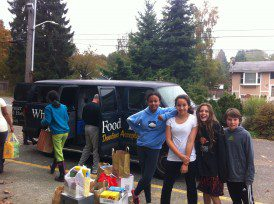 Student run food drives for White Center Food Bank.