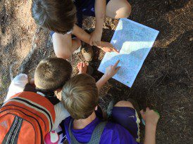 Navigating with camp group.