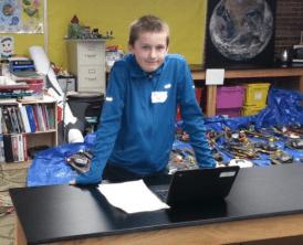 Explorer West 7th Grader Kyle Hole